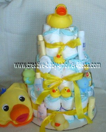 rubber ducks diaper cake