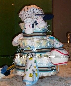 baseball ball diaper cake