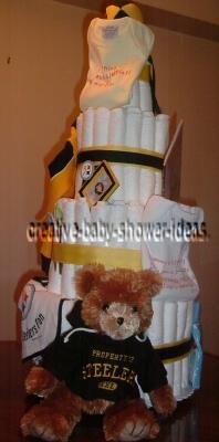 8 tier pittsburgh steelers diaper cake