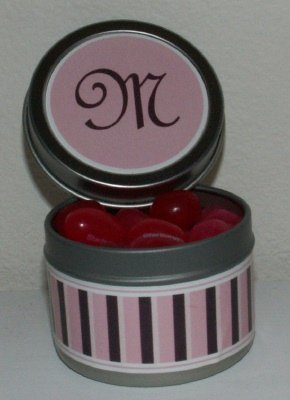 jelly bean favor tins