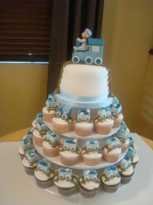 Choo Choo Train Cupcake Tower