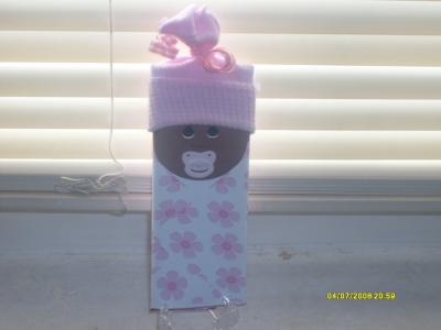 Baby Sock Hat Candy Bar Favor
