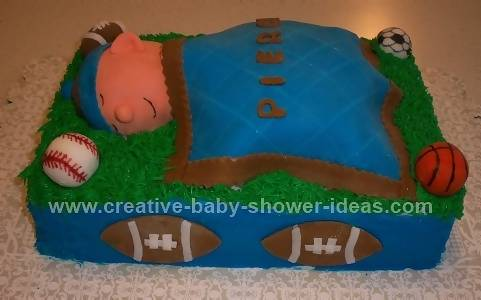 baby shower sports cake