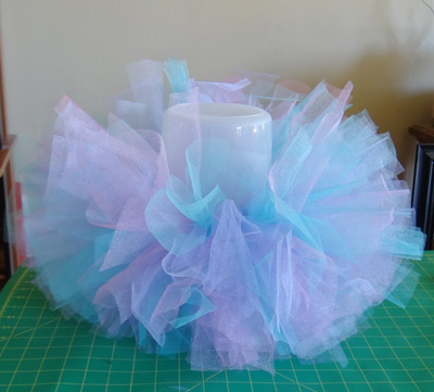 cute pink, blue and purple baby tutu