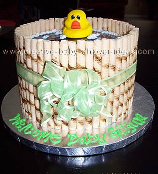 Duck in a Barrel Bathtub Cake