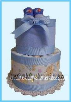 blue boy diaper cake