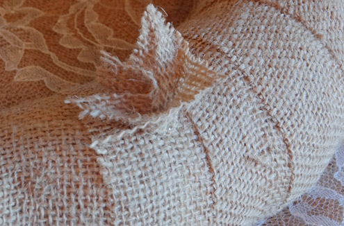 burlap baby shower wreath