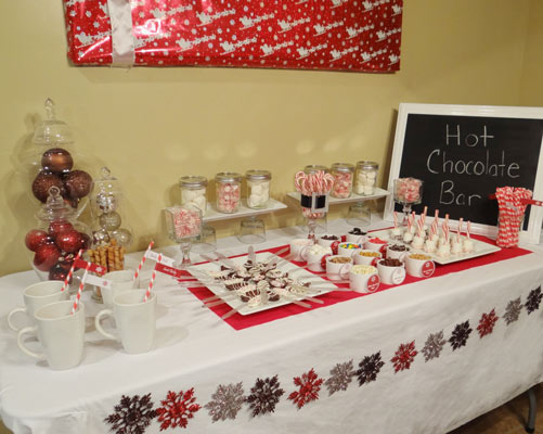 hot chocolate bar for baby shower