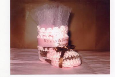 Pink Crocheted Baby Booties