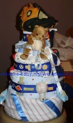 detroit tigers diaper cake