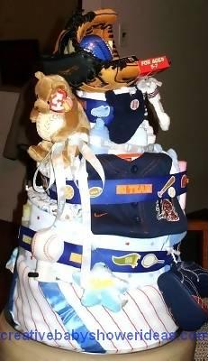 detroit tigers baseball diaper cake