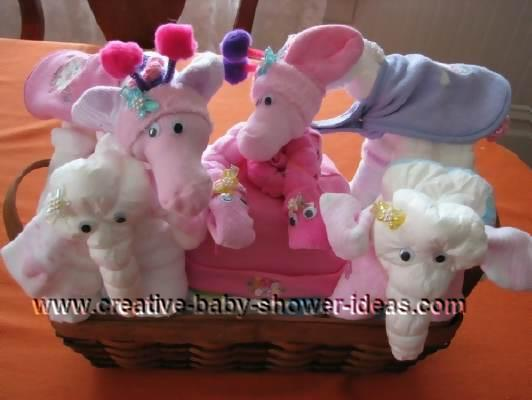 girl noahs ark diaper animals