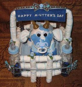 blue and white camo diaper cow