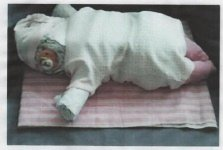 sleeping girl diaper baby