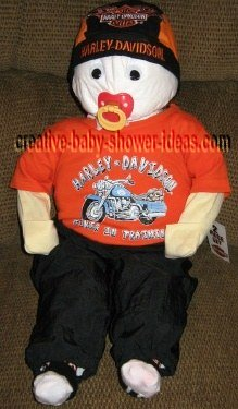 diaper baby in harley outfit