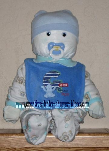 blue and white diaper baby