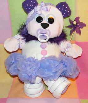 ballerina diaper bear standing up