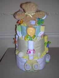 back of bear diaper cake