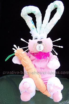 diaper bunny rabbit with carrot