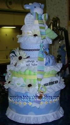 tax deduction teddy bear diaper cake