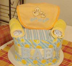 diaper chair cake