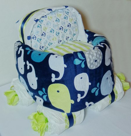 blue blanket wrapped around diaper stroller