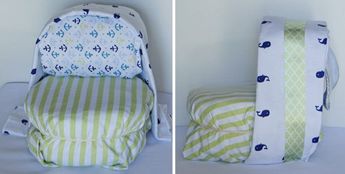 attaching sun shade on diaper stroller