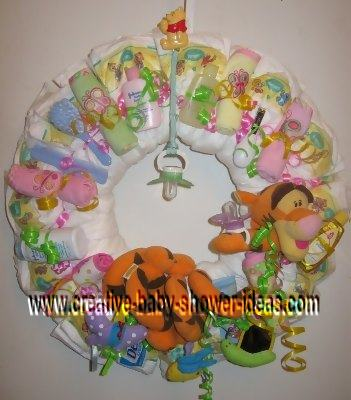 tigger diaper wreath