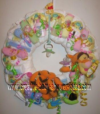 tigger diaper wreath