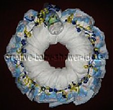 blue boy diaper wreath