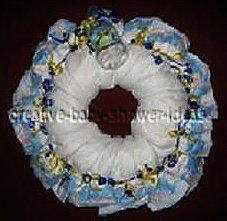 blue boy diaper wreath