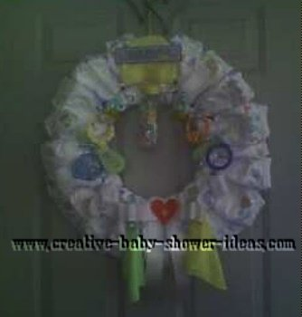 baby diaper wreath
