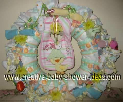 duck bib diaper wreath