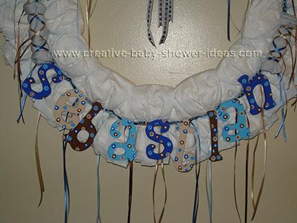 dog diaper wreath