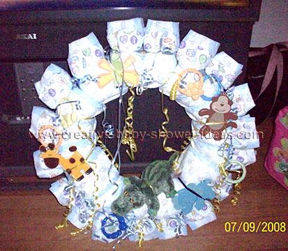 jungle diaper wreath
