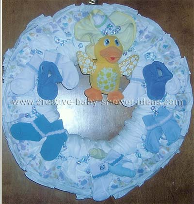 blue duck diaper wreath