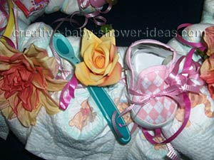 girl diaper wreath