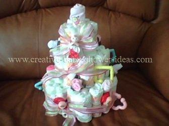 sweet doll diaper baby cake