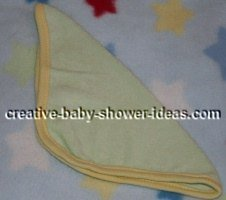 washcloth folded in half for washcloth bunnies