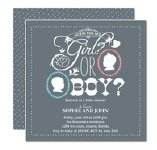gender reveal guessing game baby shower invitation