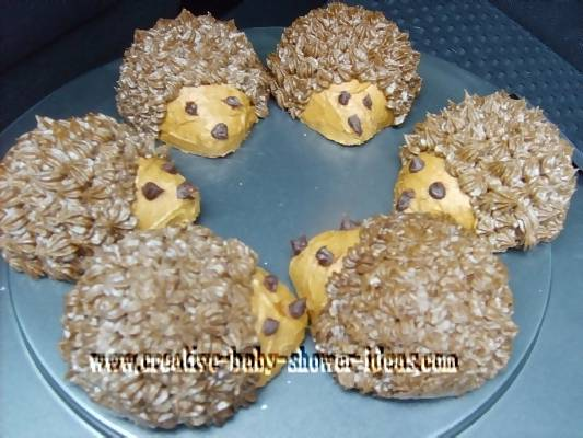 Hedge Hog Cakes for a Baby Shower