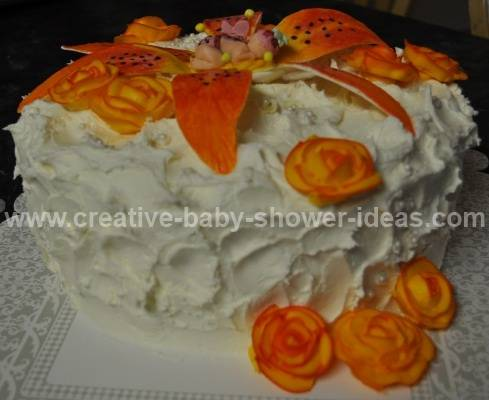 another view of the sleeping baby lily cake