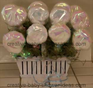 washcloth lollipop basket centerpiece