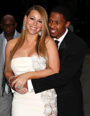 mariah carey and husband smiling