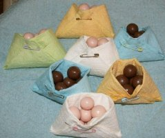 diaper napkin nut cups filled with candy