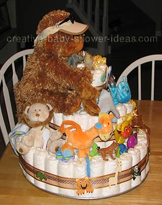side of gorilla nappy cake