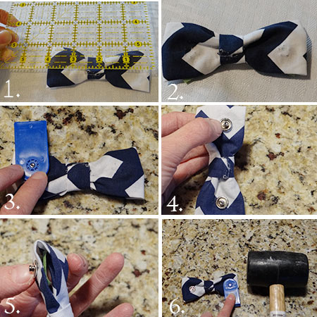 how to put snaps on a bow tie