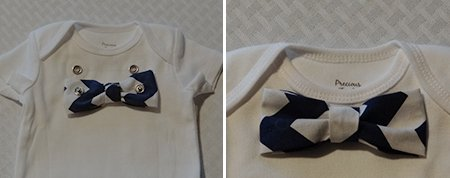 how to make onesie bow ties