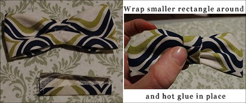 wrapping finishing center of bow tie for baby