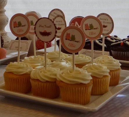 orange creamsicle baby shower cupcakes